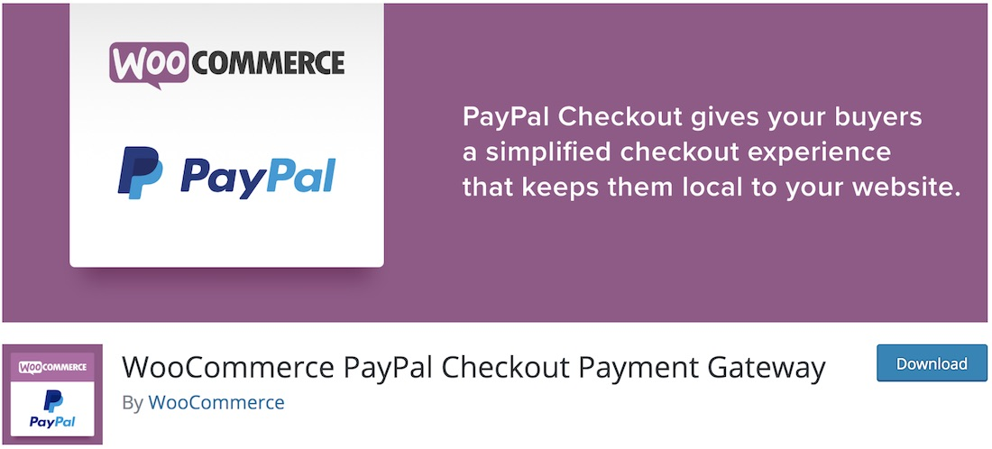 passerelle woocommerce paypal express checkout