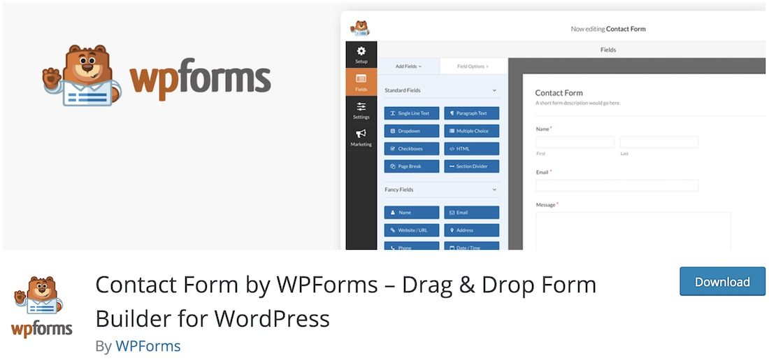 wpforms lite wordpress plugin