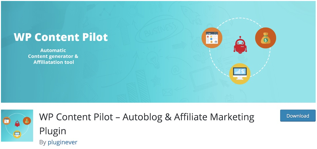 wp content pilote wordpress autoblogging plugin