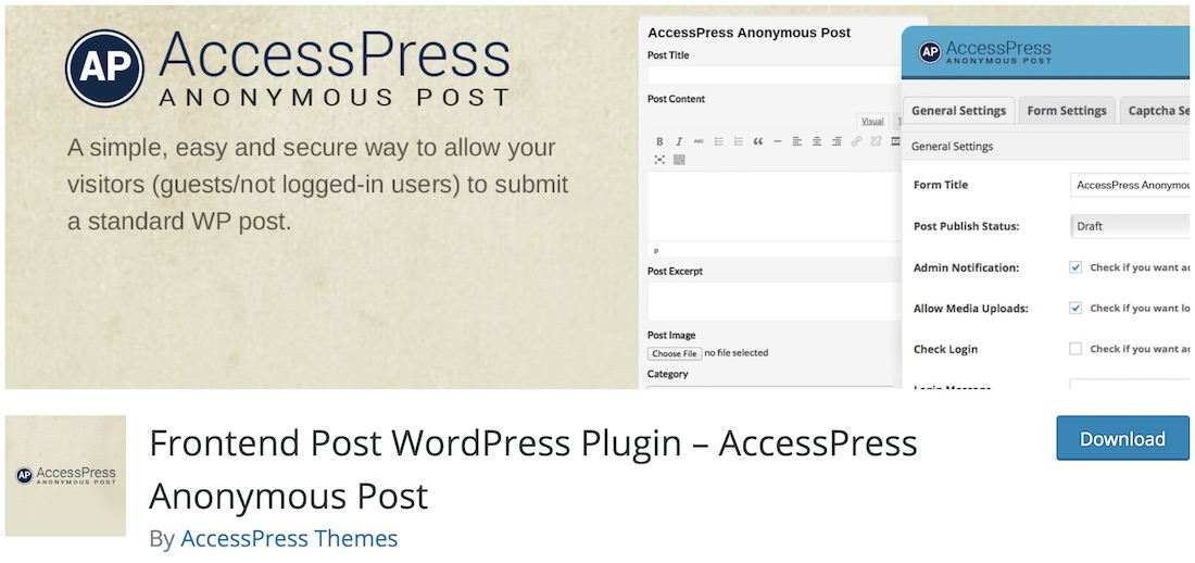 accesspress anonyme post wordpress autoblogging plugin