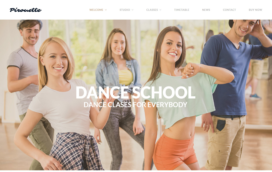 Dancing Academy Martial Arts Thème WordPress