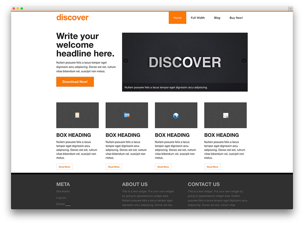 discover - vintage business theme