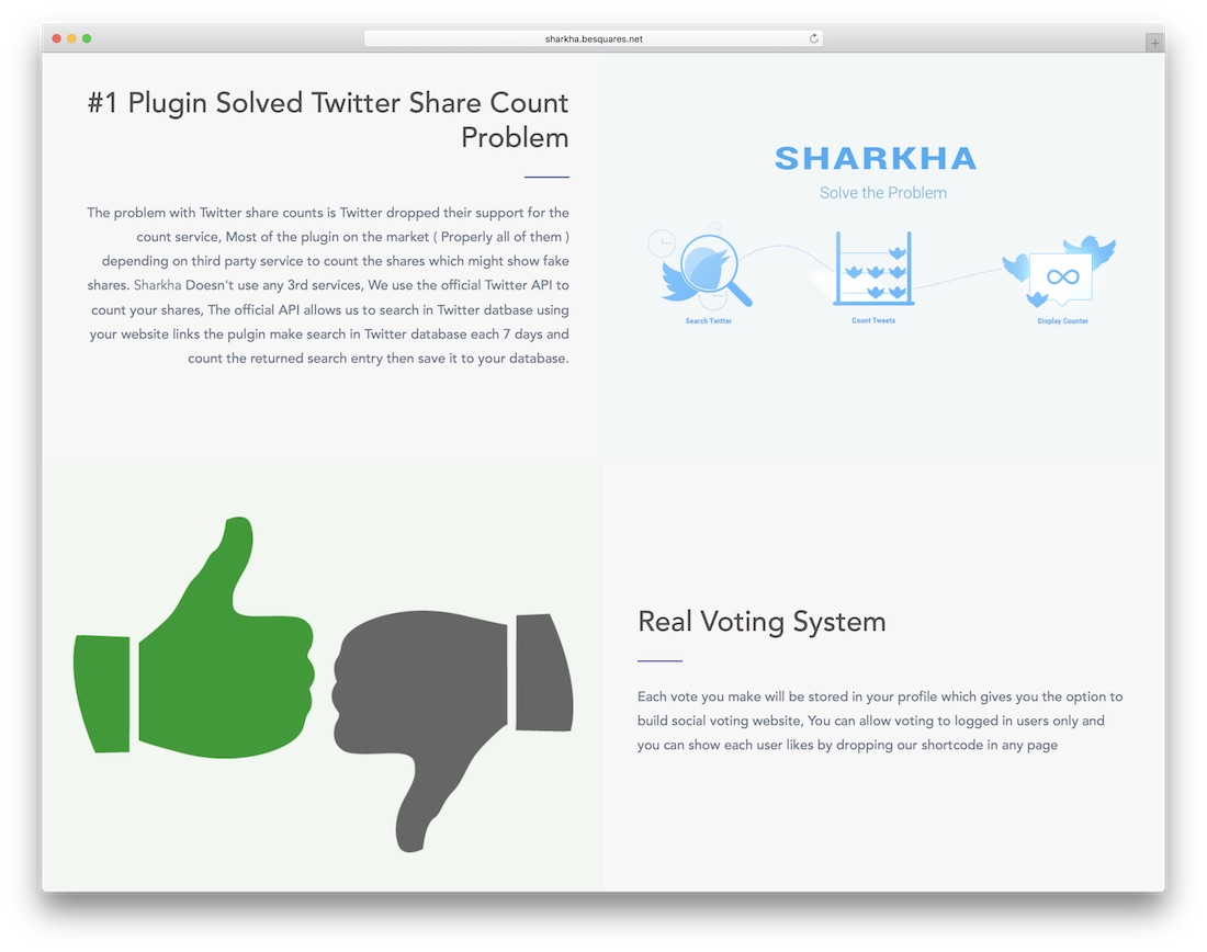 sharkha wordpress plugin de vote