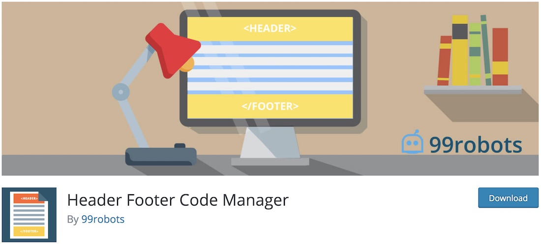 en-tête footer code manager plugin wordpress
