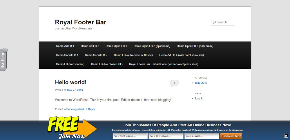 Royal Footer Bar
