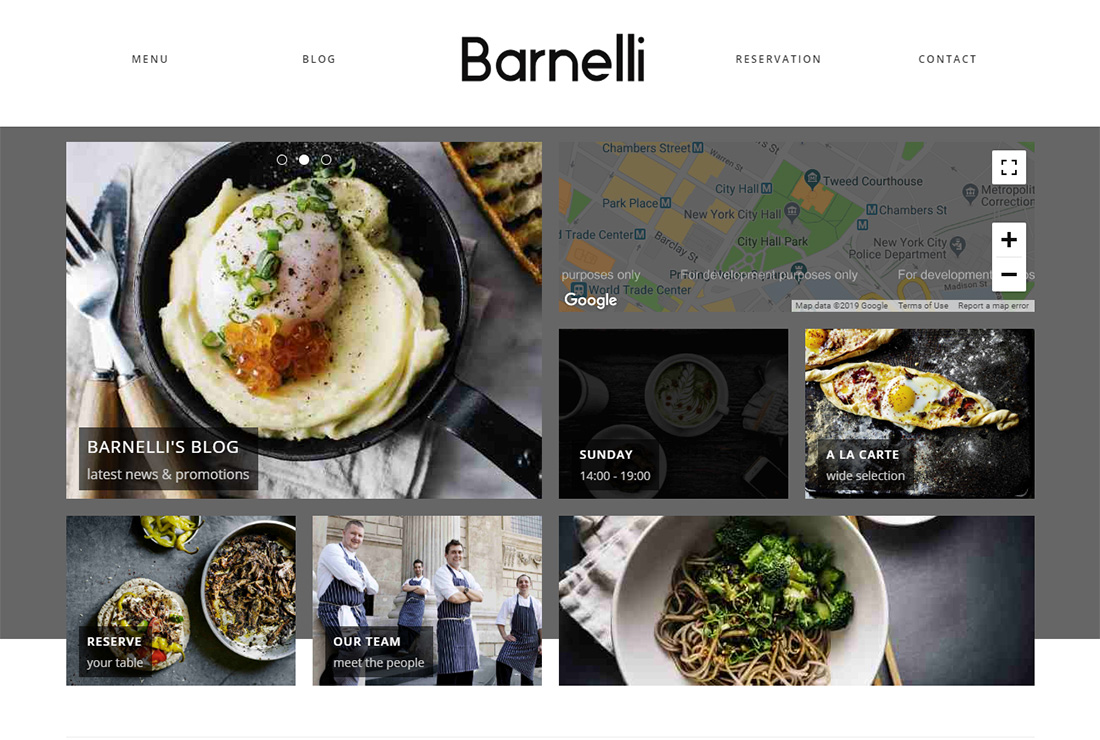 Barnelli Food Truck Thème WordPress