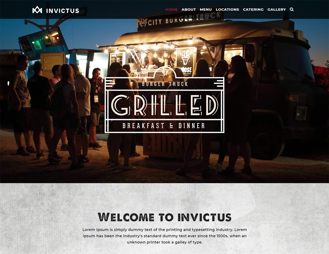Thème WordPress Invictus Food Truck