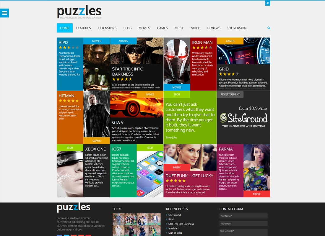 Puzzles | WP Magazine / Review avec Store Thème WordPress + RTL