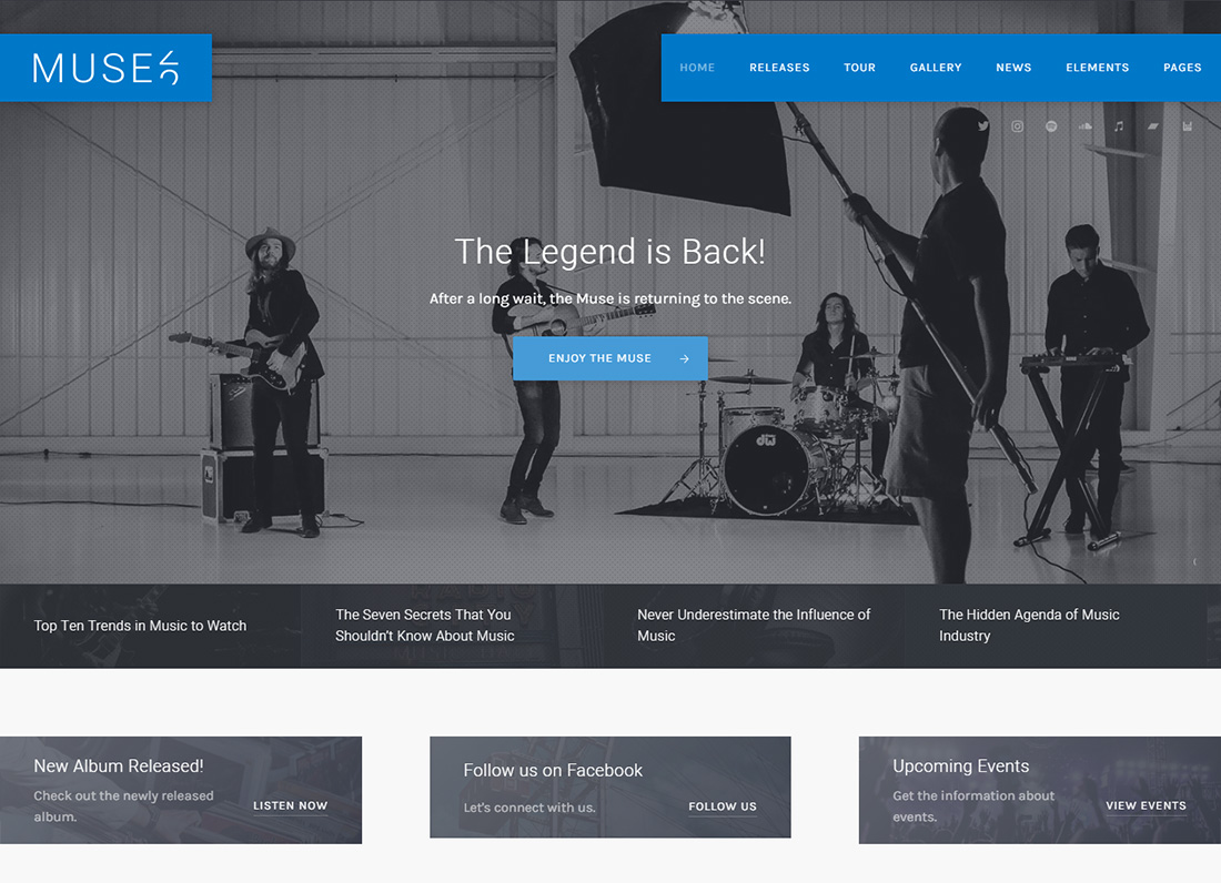 Muse accessible thème WordPress