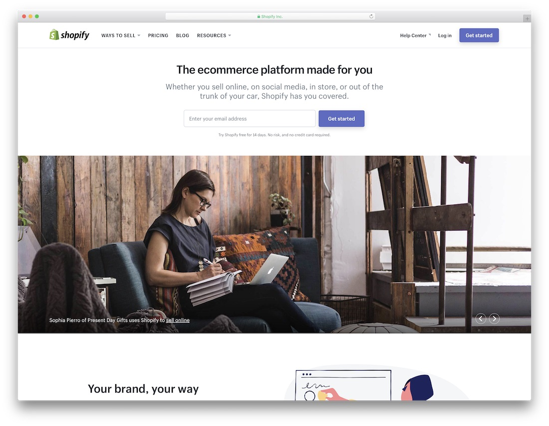 shopify meilleur constructeur de site web mobile friendly