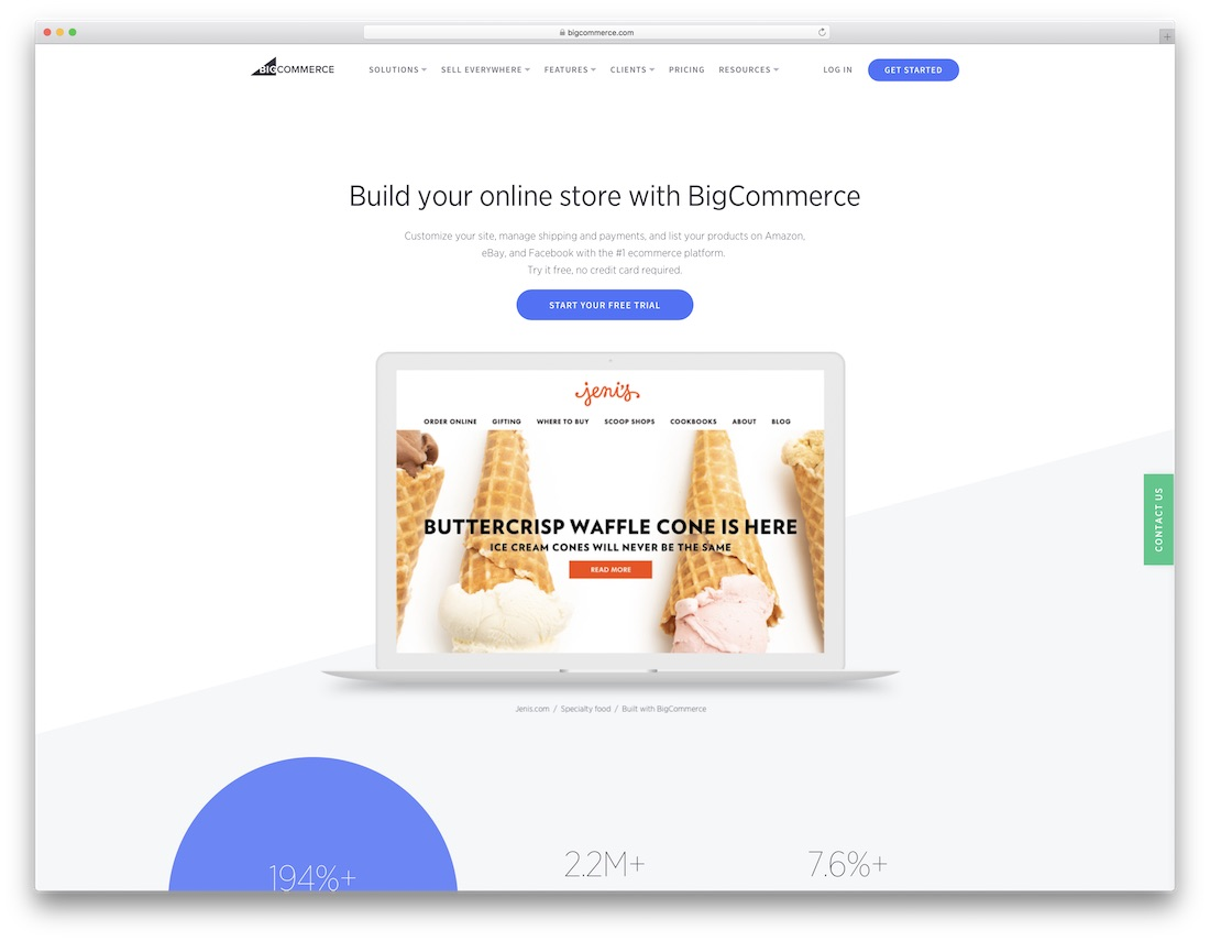 bigcommerce meilleur constructeur de site web mobile friendly