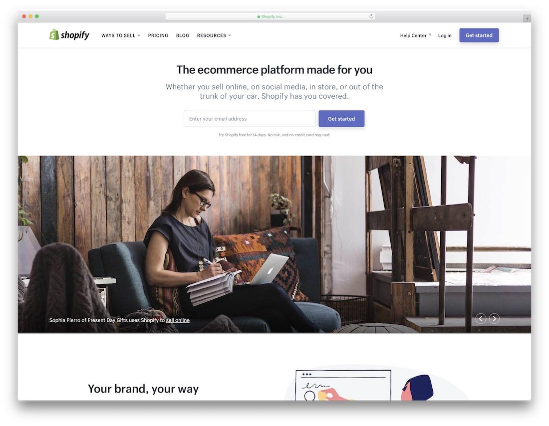 shopify constructeur de boutique en ligne