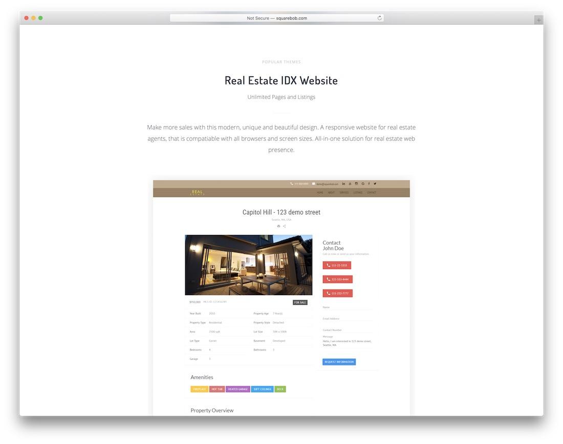 constructeur de site web d'agent immobilier