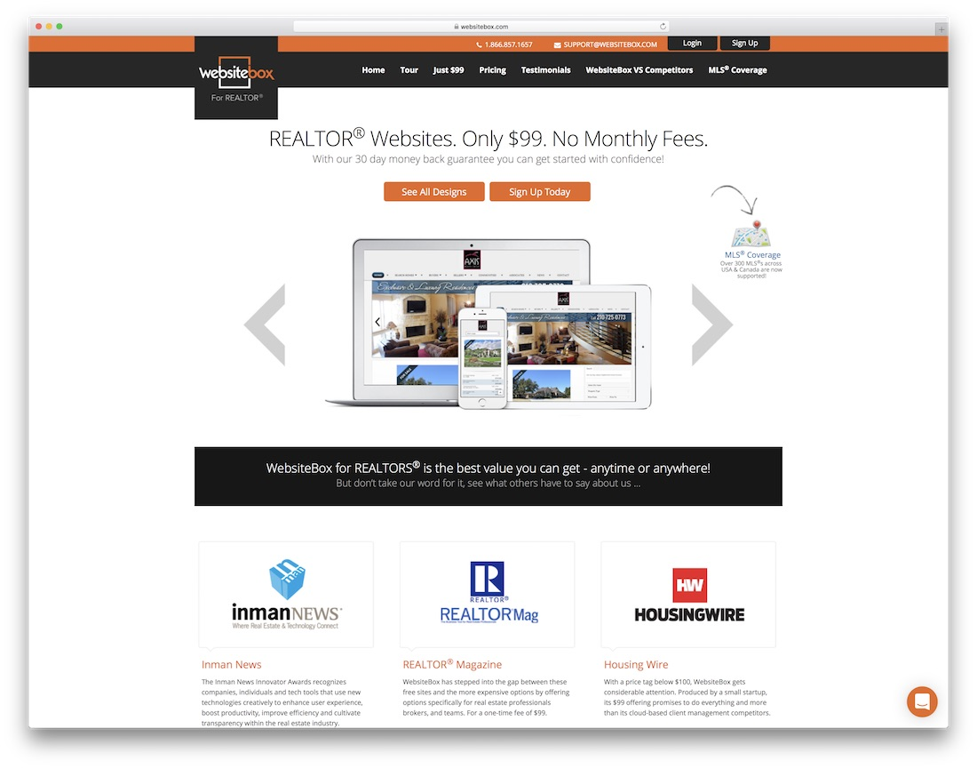 websitebox agent immobilier constructeur de site internet