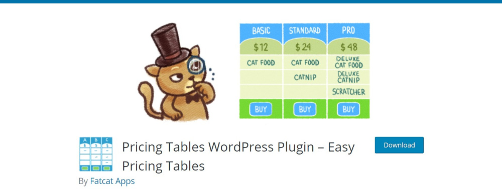 WordPress Pricing Table Plugins: Tableaux de tarification faciles