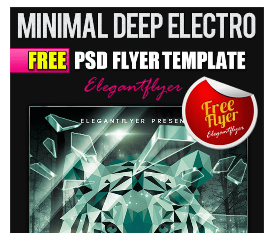 Flyer for Minimal Deep Electro Parties