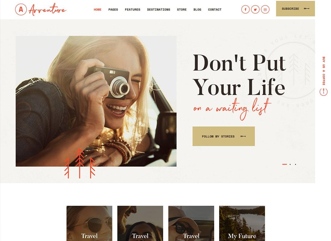 Avventure | Blog sur les voyages et les modes de vie personnels Thème WordPress