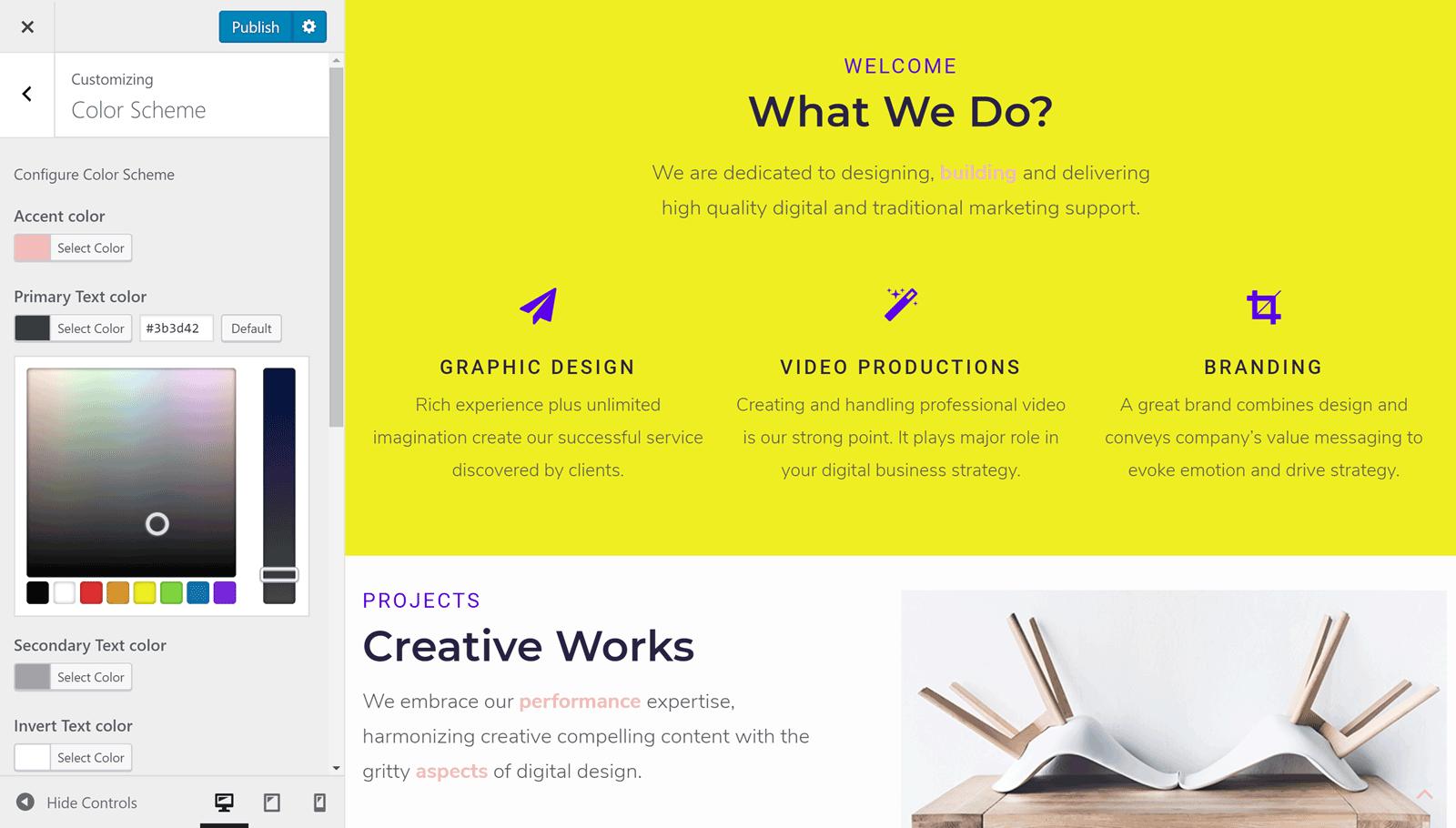 """Personnaliseur """"width ="""" 1600 """"height ="""" 910 """"srcset ="""" https://webypress.fr/wp-content/uploads/2019/05/1557565985_723_Crocoblock-Review-–-Create-Any-Type-of-WordPress-Website.png 1600w, https://colorlib.com/ wp / wp-content / uploads / sites / 2 / Crocoblock-Customizer-300x171.png 300w, https://colorlib.com/wp/wp/content/uploads/sites/2/Crocoblock-Customizer-768x437.png 768w, https://colorlib.com/wp/wp-content/uploads/sites/2/Crocoblock-Customizer-1024x582.png 1024w, https://colorlib.com/wp/wp-content/uploads/sites/2/Crocoblock -Customizer-600x341.png 600w """"tailles ="""" (largeur maximale: 1600px) 100vw, 1600px """"/></noscript></p> <p>Grâce à un bon niveau de compatibilité avec l'outil WordPress Customizer, vous pouvez apporter de nombreuses modifications à votre site via une interface intuitive. Les polices, les images d'arrière-plan et les paramètres de disposition ne sont que quelques-unes des propriétés que vous pouvez personnaliser avec Crocoblock.</p> <h3>Elementor Visual Content Editor</h3> <p>Comme mentionné précédemment dans cette revue Crocoblock, comme ce paquet a été construit autour de la <a href="""