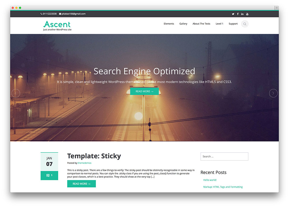 ascent - simple free blog