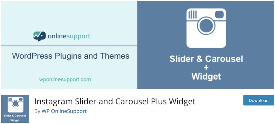 instagram slider and carrousel plus widget