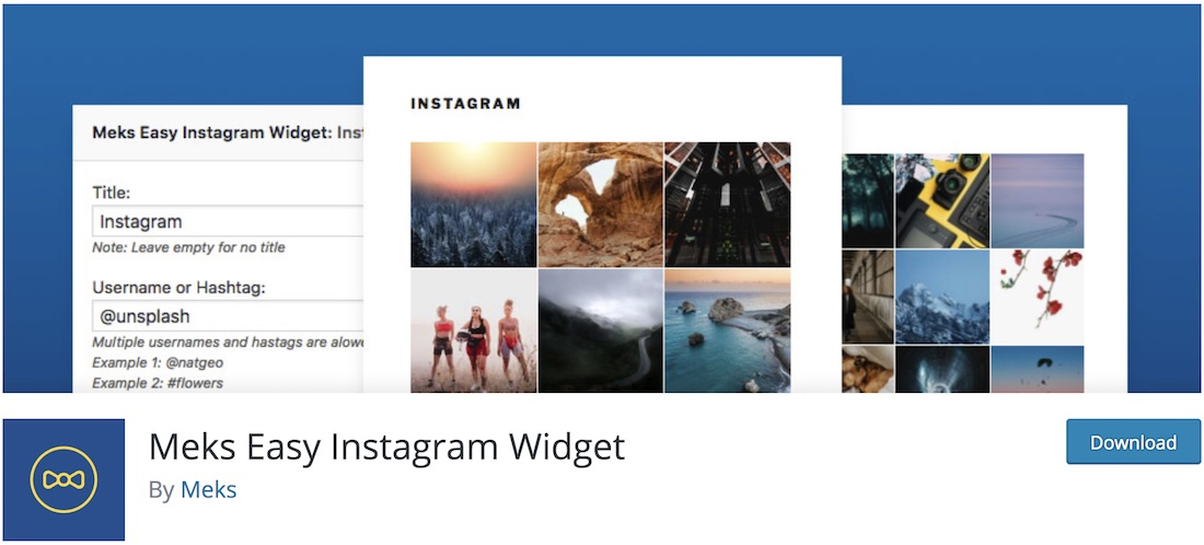 meks facile instagram widget