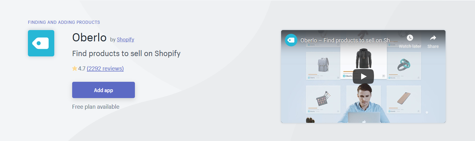 L'application Shopify pour le dropshipping
