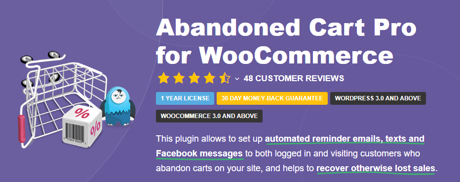 Le plugin Abandoned Cart Pro pour WooCommerce.