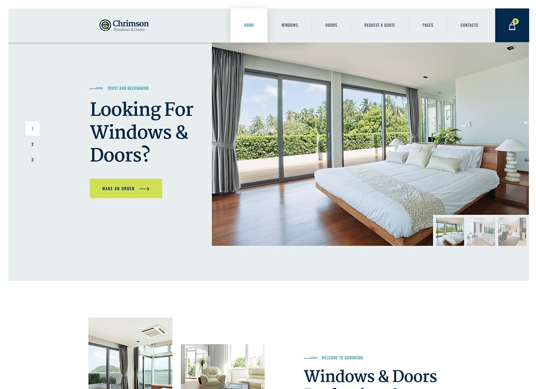 Chrimson | Thème WordPress pour Windows & Doors Services