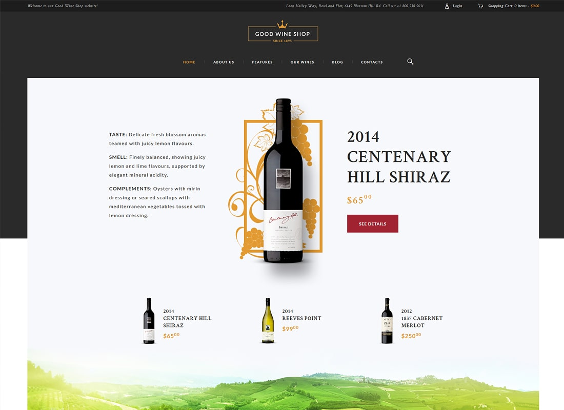 Bon vin | Wine House, Winery & Wine Shop Thème WordPress