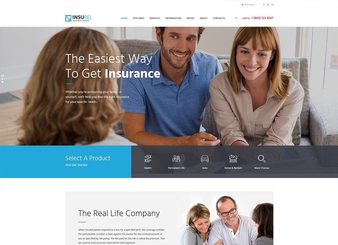 InsuRel | Assurances & Finance Thème WordPress