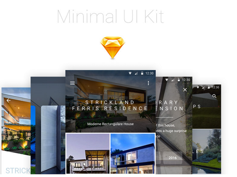 Esquisse du kit d'interface utilisateur Android minimale