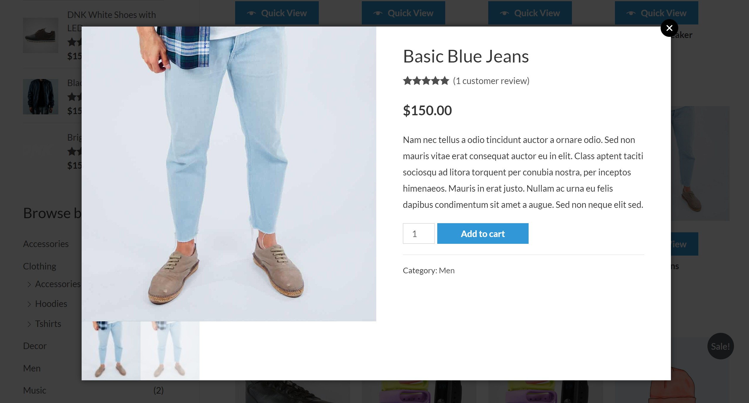 Exemple WooCommerce Quick View Pro