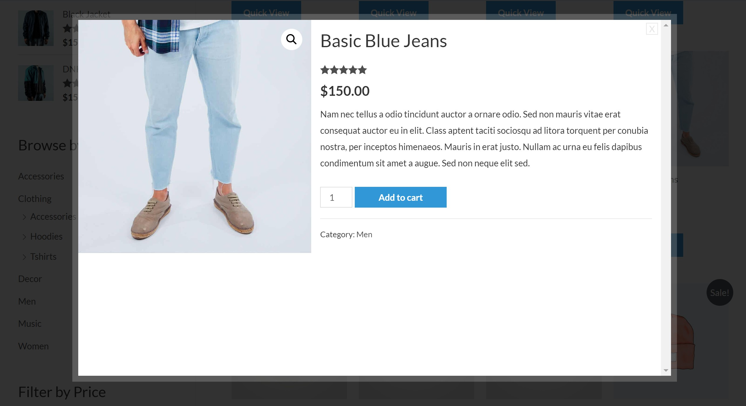 YITH WooCommerce Quick View exemple