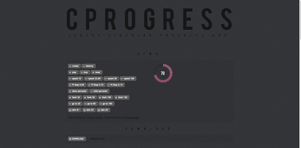 Barre de progression circulaire plugin jQuery