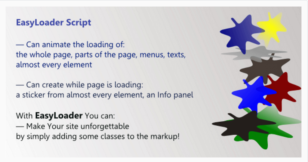 EasyLoader JavaScript Library for Page Chargement de JavaScript CodeCanyon