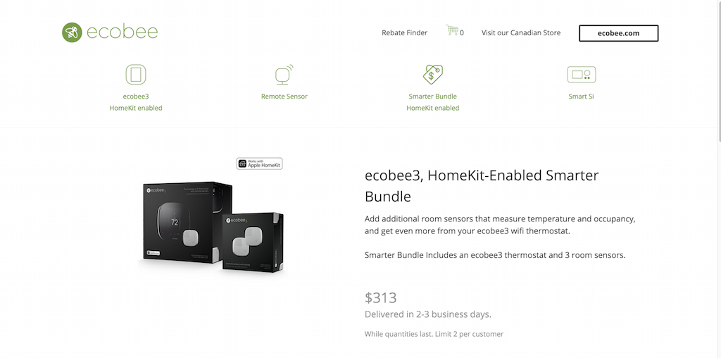Thermostats Smart WiFi par ecobee