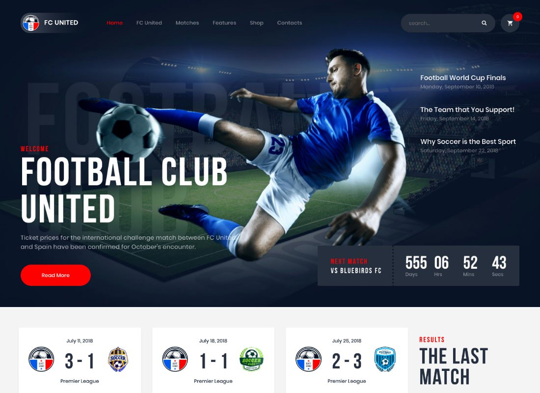 FC United | Football, Football WordPress Thème Sports