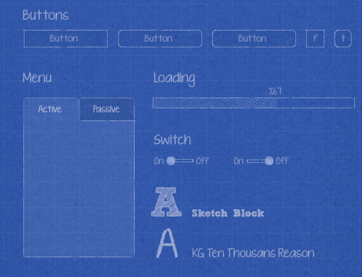 Kit PSD de Blueprint Wireframe gratuit