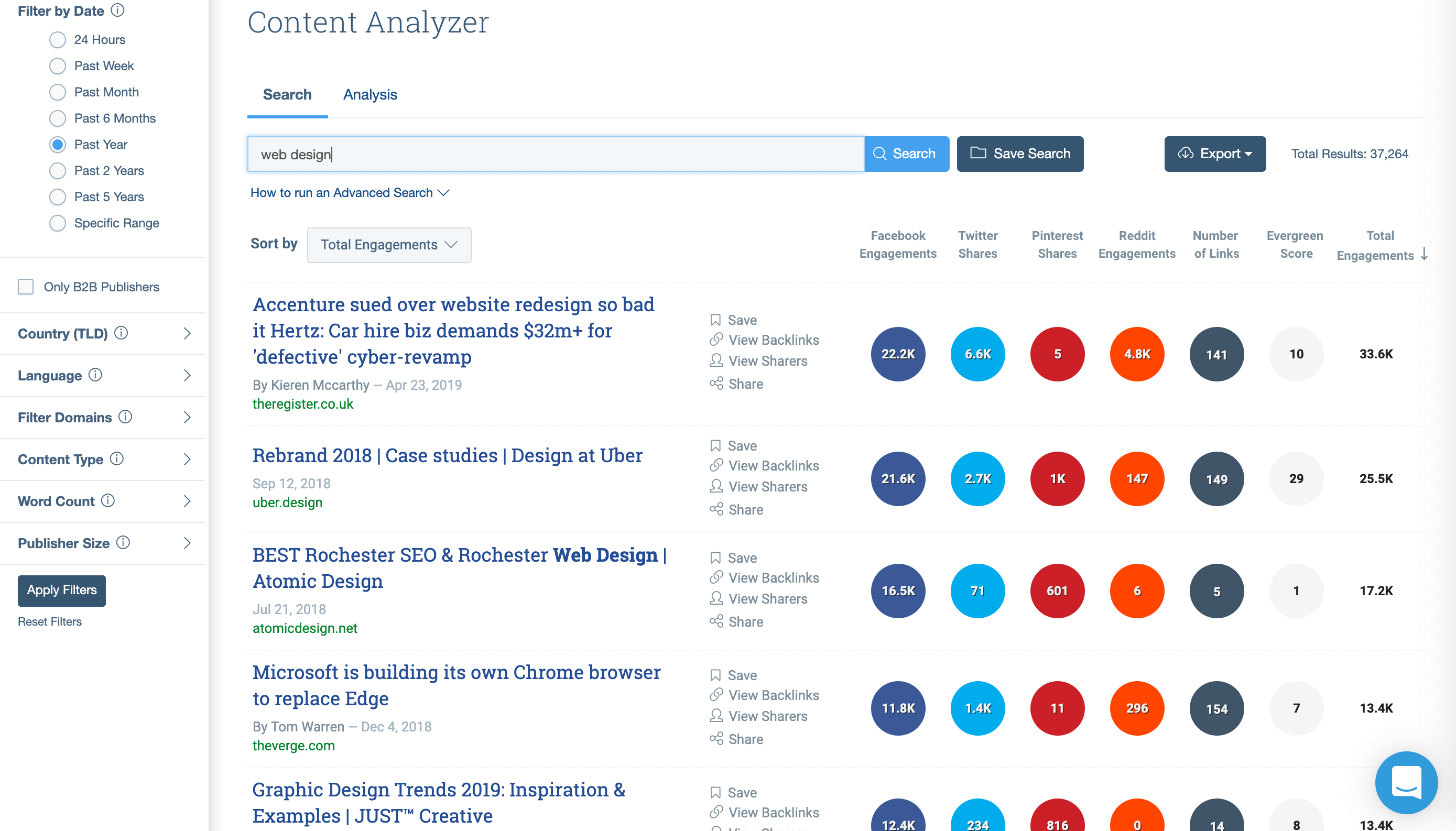 BuzzSumo's content search tool can help you with how to overcome writer's block