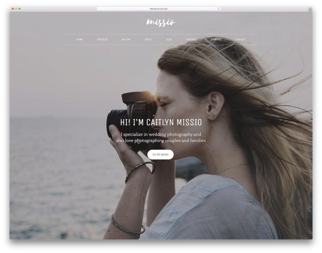 modèle de site web de photographie missio