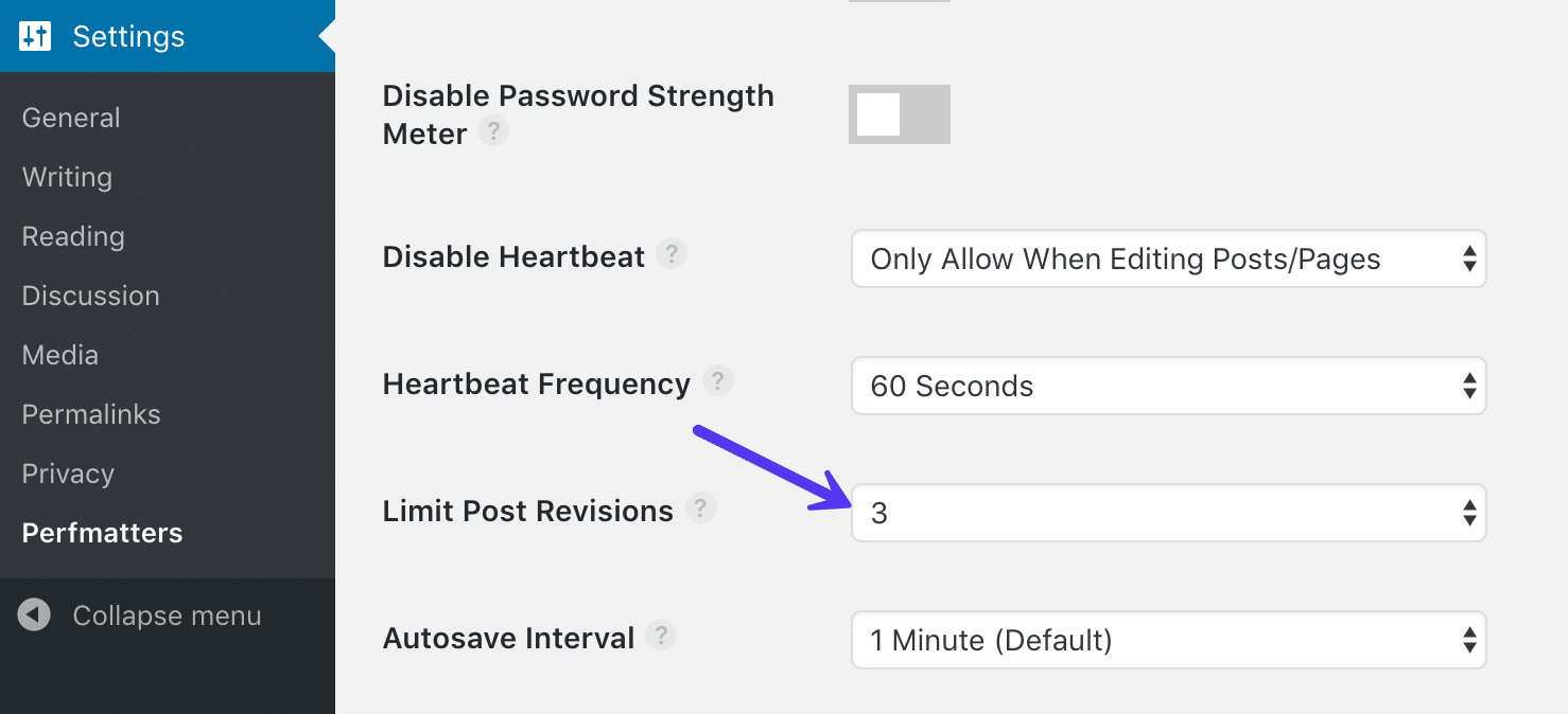 "Limit post revisions with Perfmatters plugin"" width=""1478"" height=""674"" srcset=""https://webypress.fr/wp-content/uploads/2019/08/1566286016_188_Comment-accelerer-votre-site-WordPress-Guide-Ultimate-2019.png 1478w, https://kinsta.com/wp-content/uploads/2018/11/limit-post-revisions-perfmatters-300x137.png 300w, https://kinsta.com/wp-content/uploads/2018/11/limit-post-revisions-perfmatters-768x350.png 768w, https://kinsta.com/wp-content/uploads/2018/11/limit-post-revisions-perfmatters-1024x467.png 1024w, https://kinsta.com/wp-content/uploads/2018/11/limit-post-revisions-perfmatters-610x278.png 610w"" sizes=""(max-width: 1478px) 100vw, 1478px"