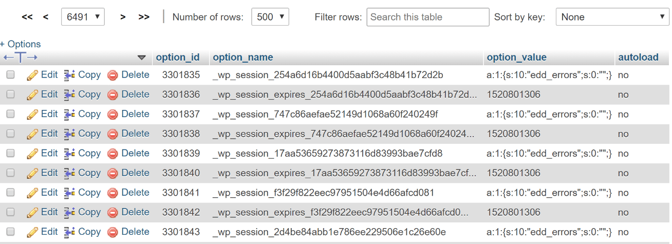 "wp_session rows"" width=""1308"" height=""475"" srcset=""https://webypress.fr/wp-content/uploads/2019/08/1566286018_746_Comment-accelerer-votre-site-WordPress-Guide-Ultimate-2019.png 1308w, https://kinsta.com/wp-content/uploads/2017/09/wp_session-rows-2-300x109.png 300w, https://kinsta.com/wp-content/uploads/2017/09/wp_session-rows-2-768x279.png 768w, https://kinsta.com/wp-content/uploads/2017/09/wp_session-rows-2-1024x372.png 1024w, https://kinsta.com/wp-content/uploads/2017/09/wp_session-rows-2-610x222.png 610w"" sizes=""(max-width: 1308px) 100vw, 1308px"