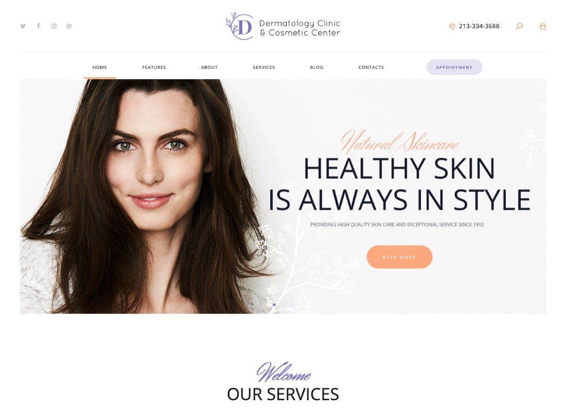D & C | Thème WordPress du Centre de dermatologie et de cosmétologie
