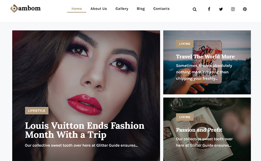 BamBom - Blog Lifestyle Multipurpose Minimal Elementor Thème WordPress