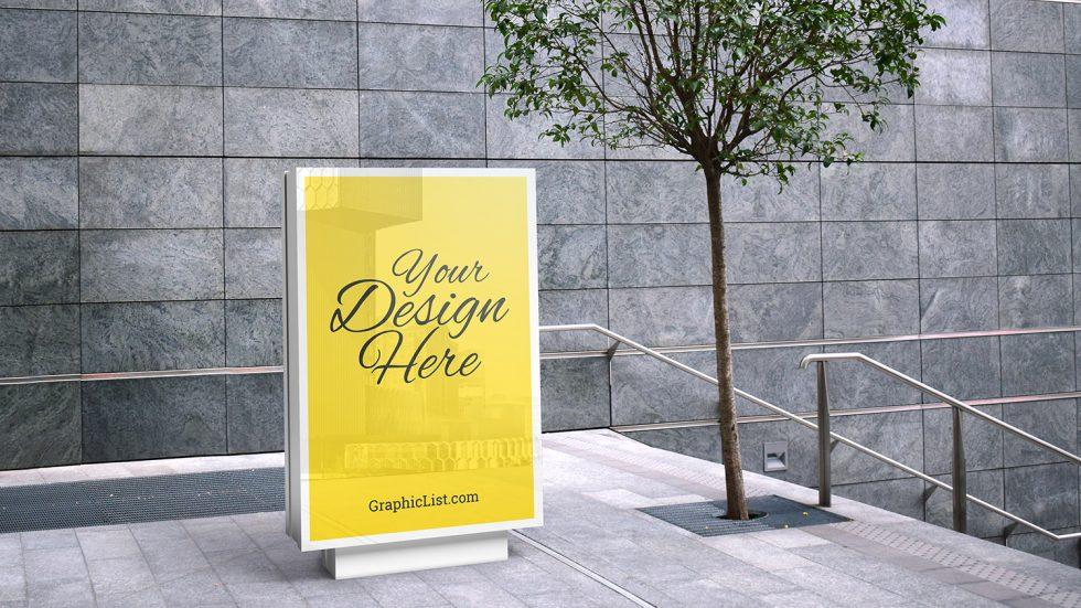 maquette de publicité extérieure