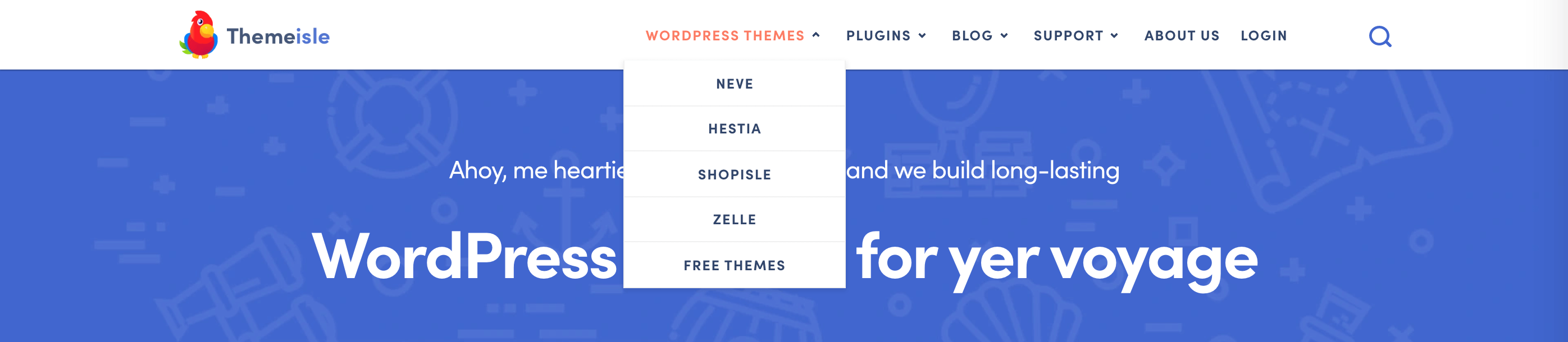 Le menu de navigation ThemeIsle.