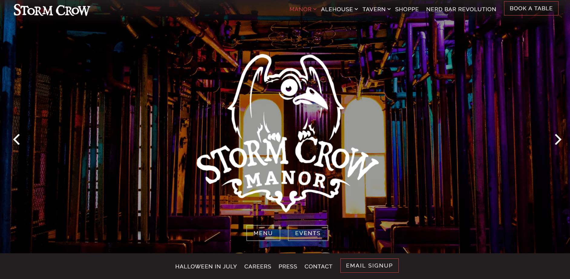 The Stormcrown Manner a besoin d'un site Web pour donner une idée de son décor