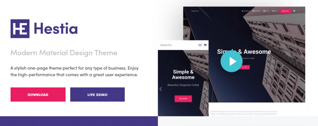 "Thèmes WordPress Blog gratuits ""width ="" 640 ""height ="" 255 ""srcset ="" https://webypress.fr/wp-content/uploads/2019/09/1569576960_306_30-themes-de-blog-WordPress-gratuits.png 1024w, https: // cdn .learnwoo.com / wp-content / uploads / 2019/09 / Hestia-300x120.png 300w, https://cdn.learnwoo.com/wp-content/uploads/2019/09/Hestia-768x306.png 768w, https : //cdn.learnwoo.com/wp-content/uploads/2019/09/Hestia-696x277.png 696w, https://cdn.learnwoo.com/wp-content/uploads/2019/09/Hestia-1068x426. png 1068w, https://cdn.learnwoo.com/wp-content/uploads/2019/09/Hestia-1054x420.png 1054w, https://cdn.learnwoo.com/wp-content/uploads/2019/09/ Hestia.png 1295w ""tailles ="" (largeur maximale: 640 pixels) 100vw, 640 pixels"