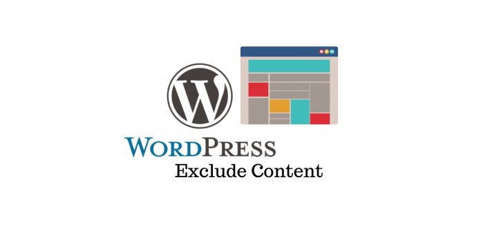 Exclure le contenu WordPress