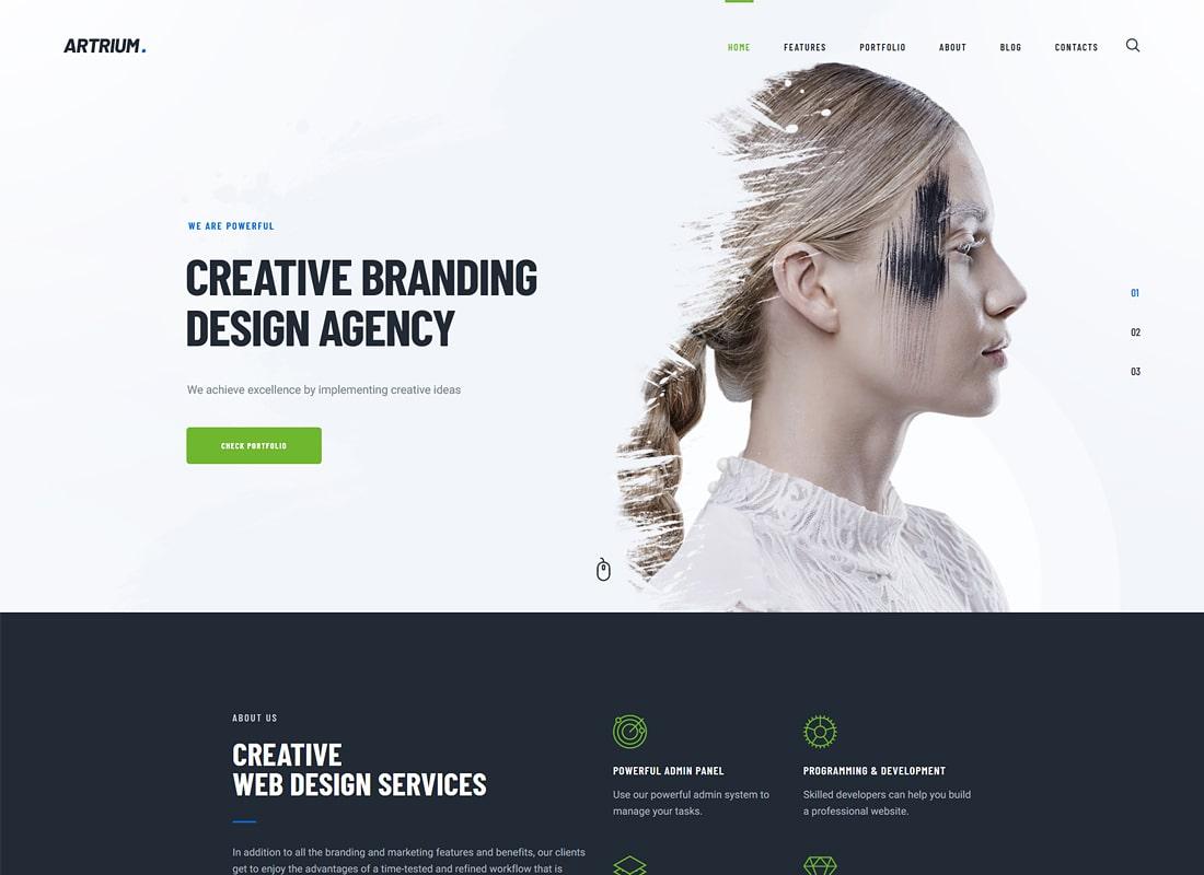 Artrium | Thème WordPress pour Agence créative et Web Studio